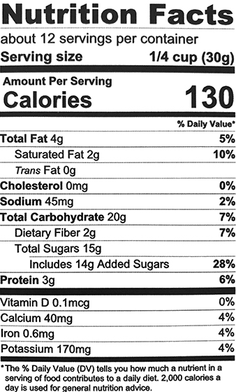 Quinoa Brownie Nutrition Facts