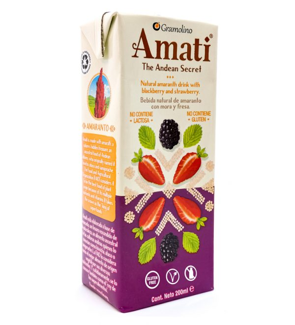 Natural Amaranth drink with Blackberry and Strawberry