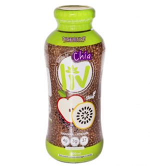 Chia seed with Red Apple and Pink Dragon Fruit