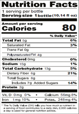 Chia seed with Red Apple and Pink Dragon Fruit Nutrition Facts