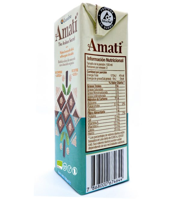 Natural Amaranth drink with Organic Chocolate